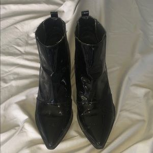 Aldo patent leather boots